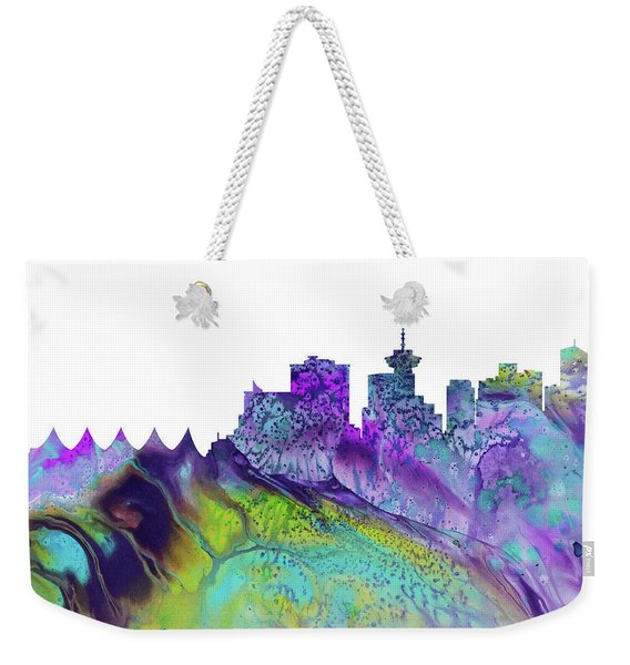 Vancouver Skyline Weekender Tote Bag