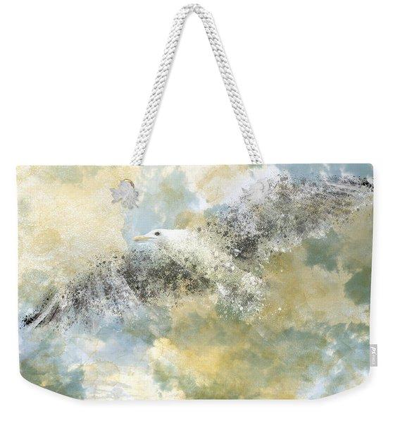 Vanishing Seagull Weekender Tote Bag