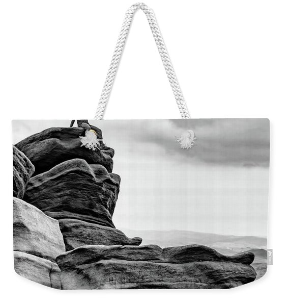 Weekender Tote Bag featuring the photograph Vantage Point by Nick Bywater