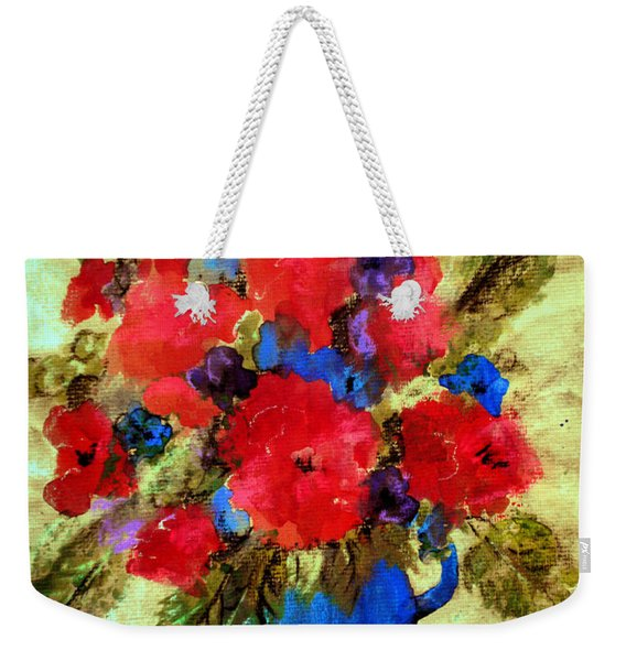 Vase Of Delight-still Life Painting By V.kelly Weekender Tote Bag