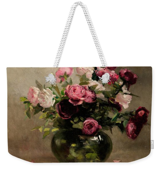 Vase Of Roses Weekender Tote Bag