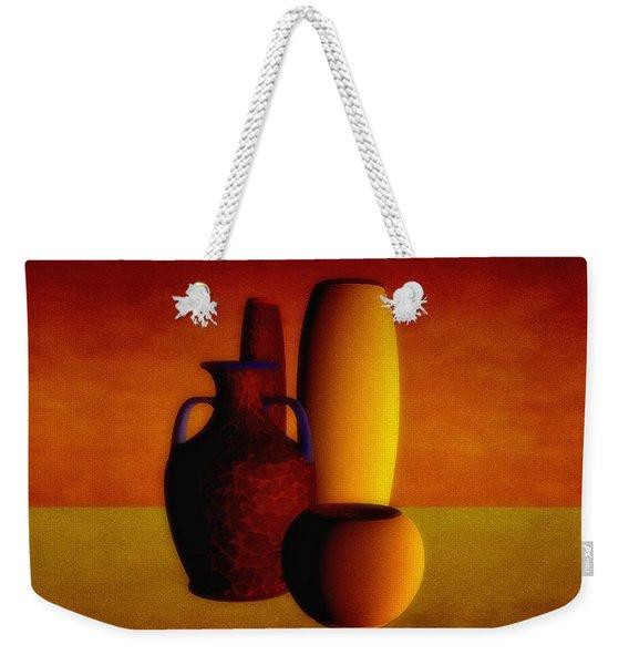 Vases In Warm Tones Weekender Tote Bag