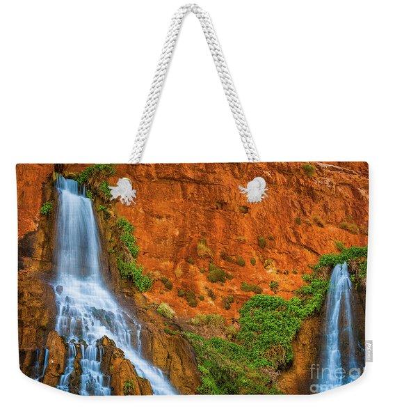 Vaseys Paradise Twin Falls Weekender Tote Bag