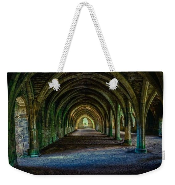 Vaulted, Fountains Abbey, Yorkshire, United Kingdom Weekender Tote Bag