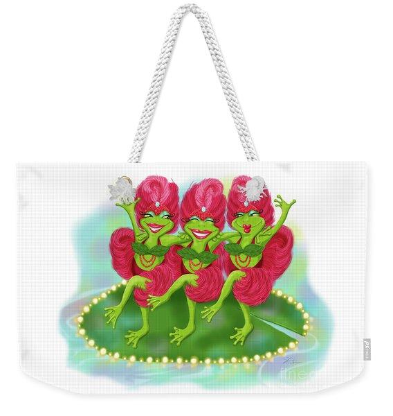 Vegas Frogs Showgirls Weekender Tote Bag