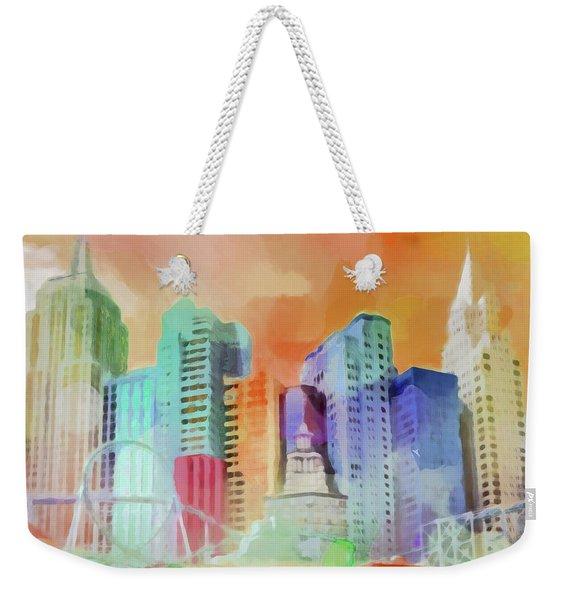 Vegas New York Weekender Tote Bag