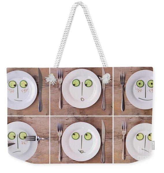 Vegetable Faces Weekender Tote Bag