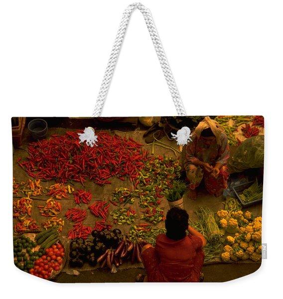 Vegetable Market In Malaysia Weekender Tote Bag