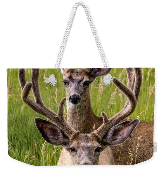 Velvet Bucks Weekender Tote Bag