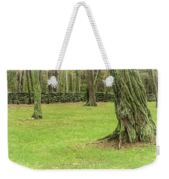 Venerable Trees And A Stone Wall Weekender Tote Bag