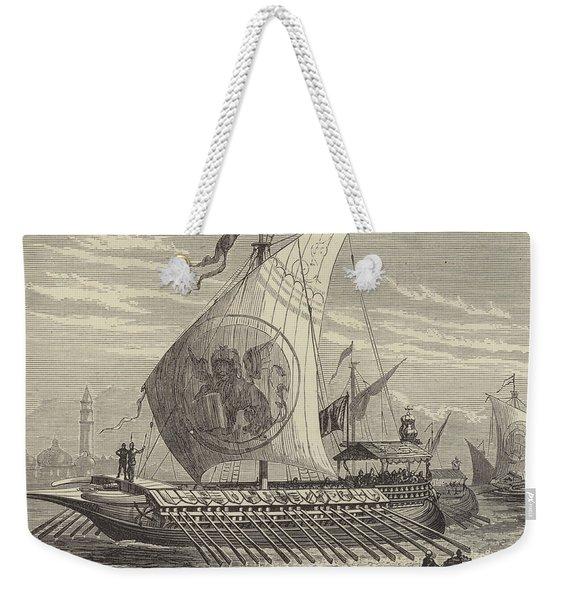 Venetian Galley Weekender Tote Bag