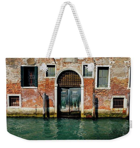 Venetian House On Canal Weekender Tote Bag