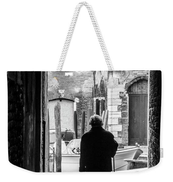 Venetian Silhoutte Lady Weekender Tote Bag