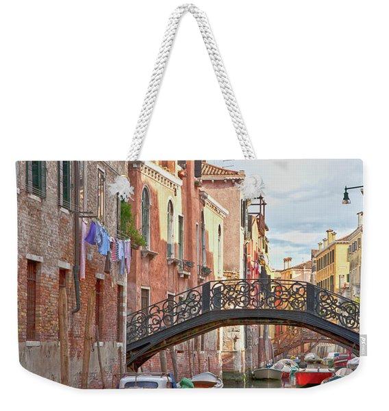 Venice Bridge Crossing 5 Weekender Tote Bag