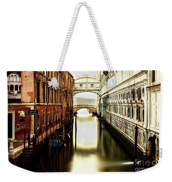 Venice Bridge Of Sighs Weekender Tote Bag