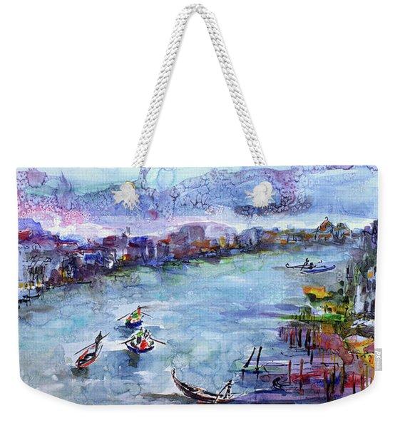 Venice Festivities Travel Italy Watercolor And Ink Weekender Tote Bag