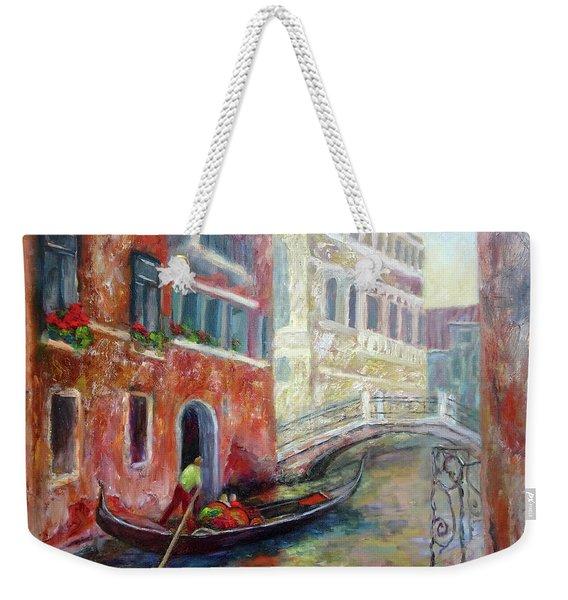 Venice Gondola Ride Weekender Tote Bag