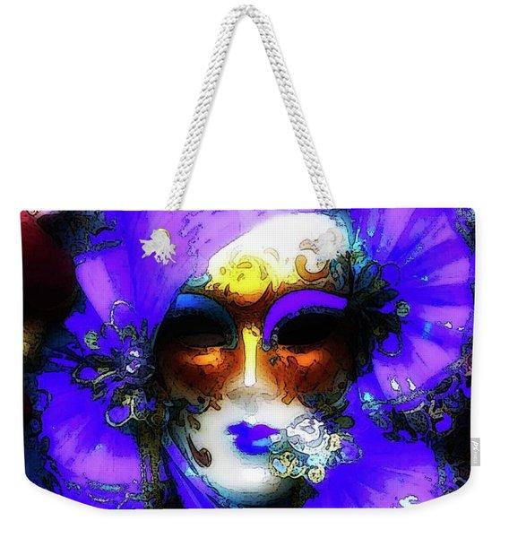 Venice Purple Carnival Mask Weekender Tote Bag