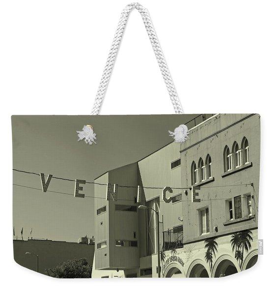 Venice Sign Weekender Tote Bag