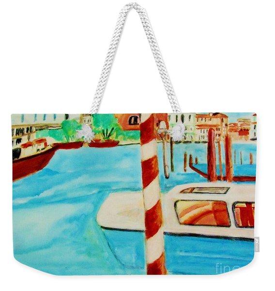 Venice Travel By Boat Weekender Tote Bag