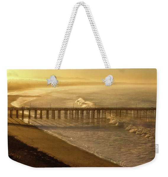 Ventura, Ca Pier At Sunrise Weekender Tote Bag
