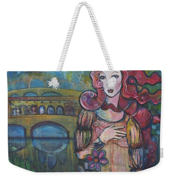 Venus And The Ponte Vecchio  Weekender Tote Bag