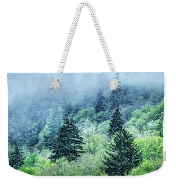 Verdant Forest In The Great Smoky Mountains Weekender Tote Bag