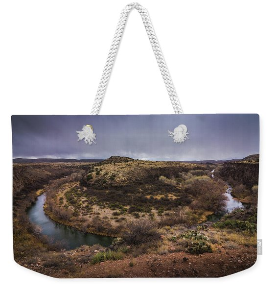 Weekender Tote Bag featuring the photograph Verde River Horseshoe by Andy Konieczny