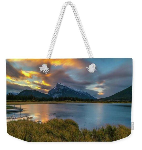 Vermillion Lakes Sunrise Weekender Tote Bag