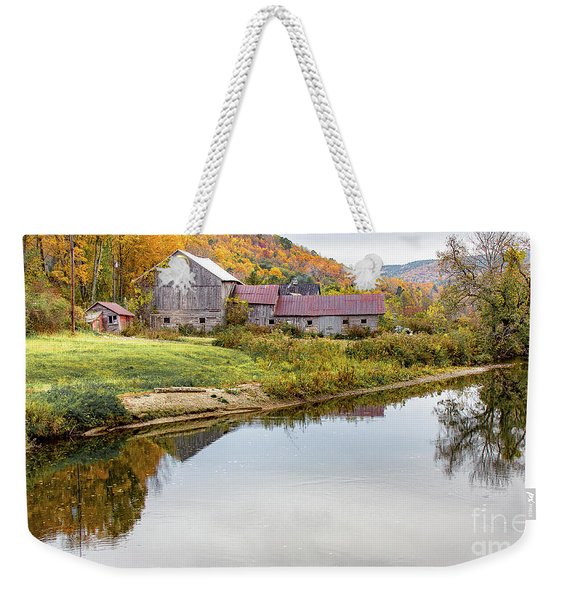 Vermont Countryside Weekender Tote Bag
