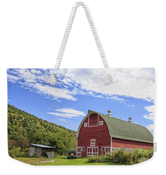 Vermont Red Barn Route 5 Weekender Tote Bag