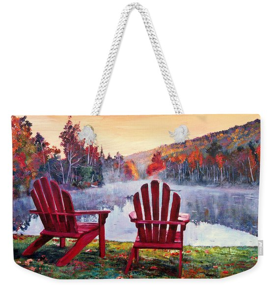 Vermont Romance Weekender Tote Bag