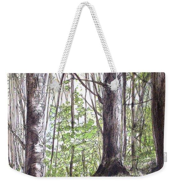 Vermont Woods Weekender Tote Bag