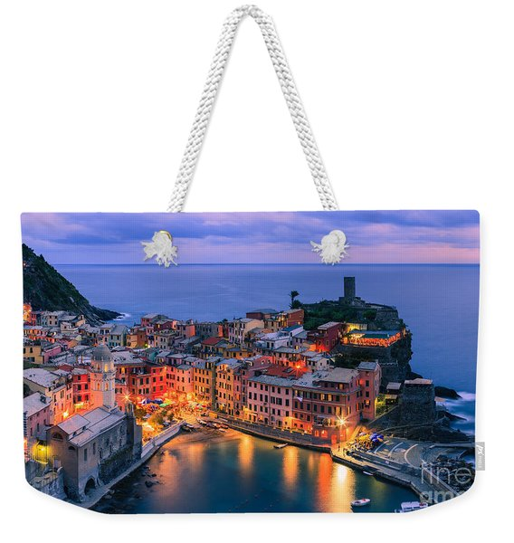 Vernazza Is One Of The Five Towns That Make Up The Cinque Terre  Weekender Tote Bag