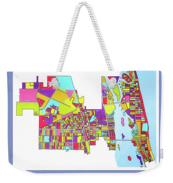 Vero Beach Map1 Weekender Tote Bag