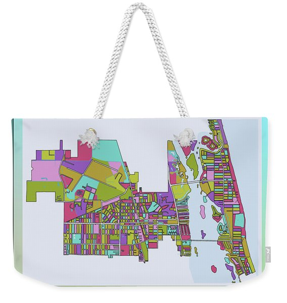 Vero Beach Map2 Weekender Tote Bag