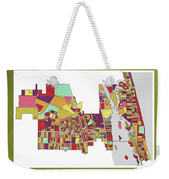 Vero Beach Map3 Weekender Tote Bag