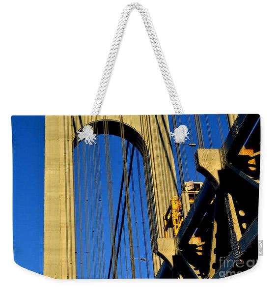 Verrazano Narrows Bridge Tower Weekender Tote Bag