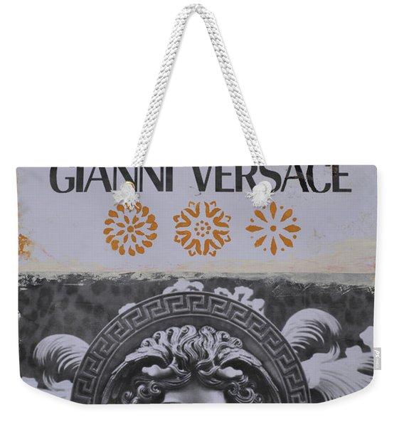 Versace Logo Weekender Tote Bag