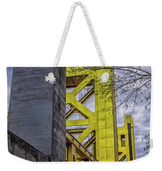 Vertical Weekender Tote Bag