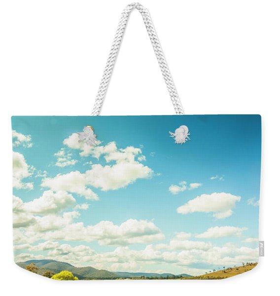 Vertical Plains Weekender Tote Bag
