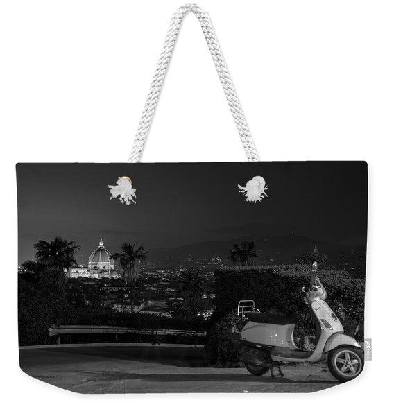 Vespa In Florence Italy  Weekender Tote Bag