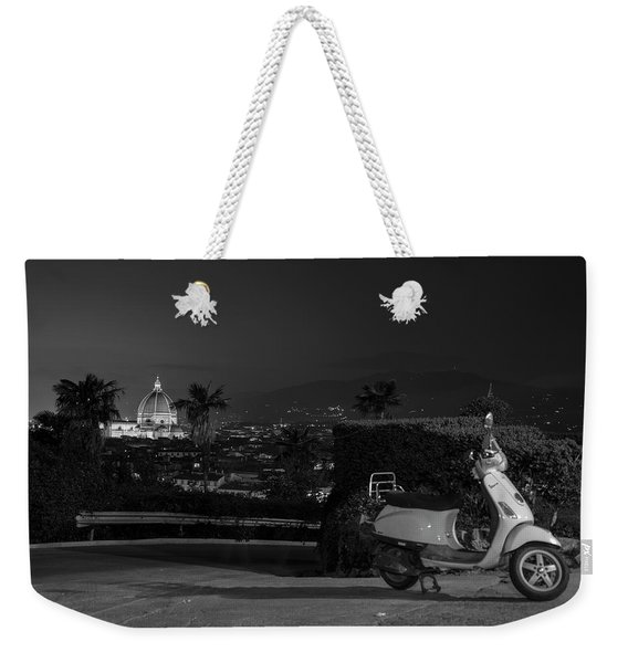 Vespa In Florence Italy  Weekender Tote Bag