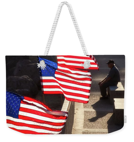 Veteran With Our Nations Flags Weekender Tote Bag