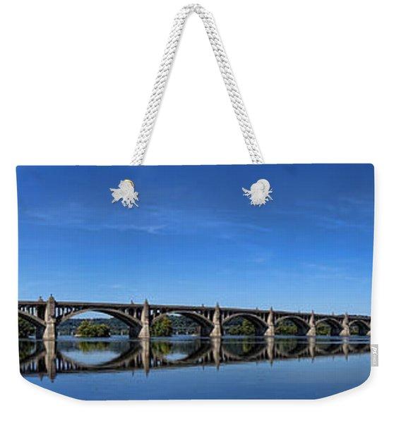Veterans Memorial Bridge On The Susquehanna River Weekender Tote Bag
