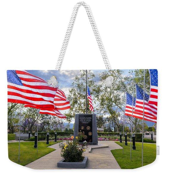 Veterans Monument Camarillo California Usa Weekender Tote Bag