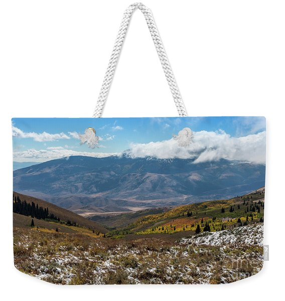 Vibrance Of The Storm Idaho Landscape Art By Kaylyn Franks Weekender Tote Bag