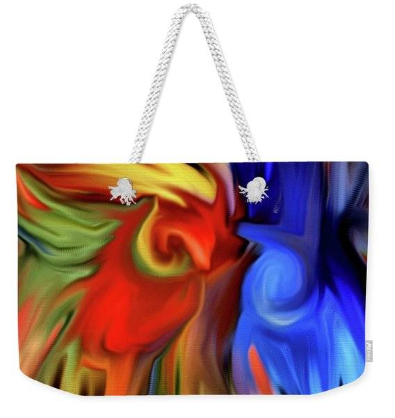 Vibrant Abstract Color Strokes Weekender Tote Bag