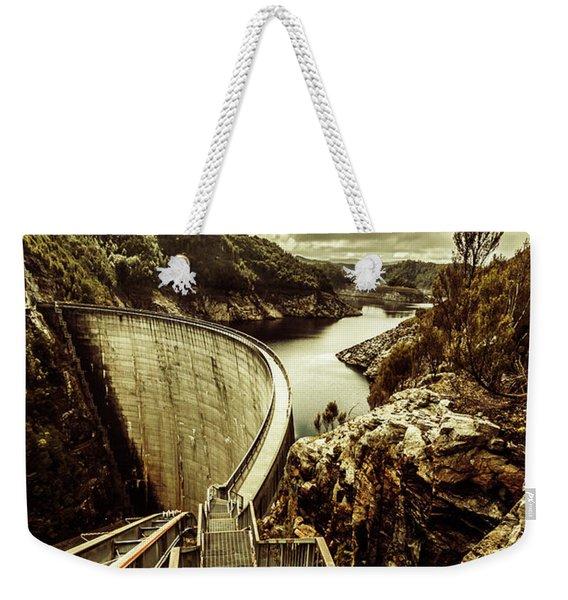 Vibrant River Dam Weekender Tote Bag