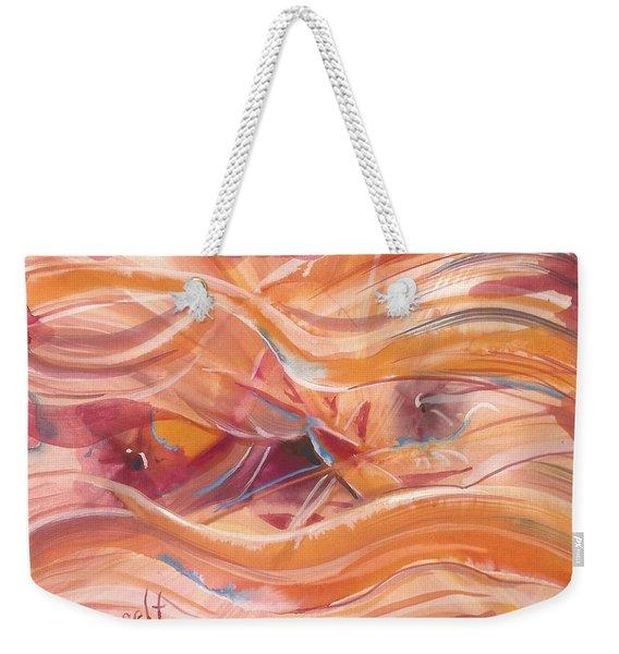 Vibrant Silk Weekender Tote Bag